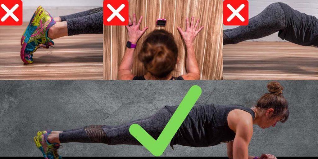 thư thế plank sai phương pháp