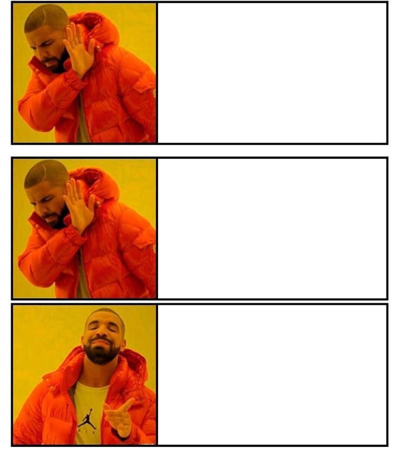Drake hotline bling 3 khung ảnh